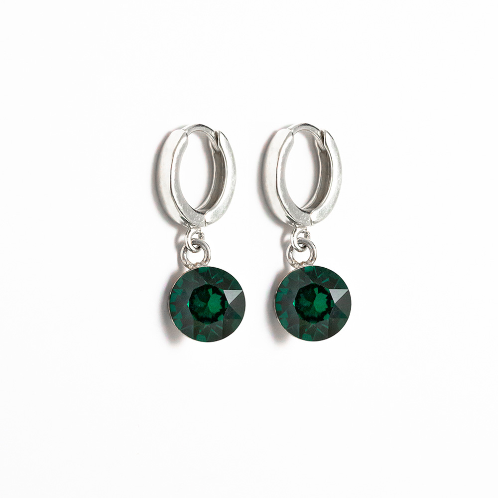 Cercei leverback xirius 8 mm Emerald