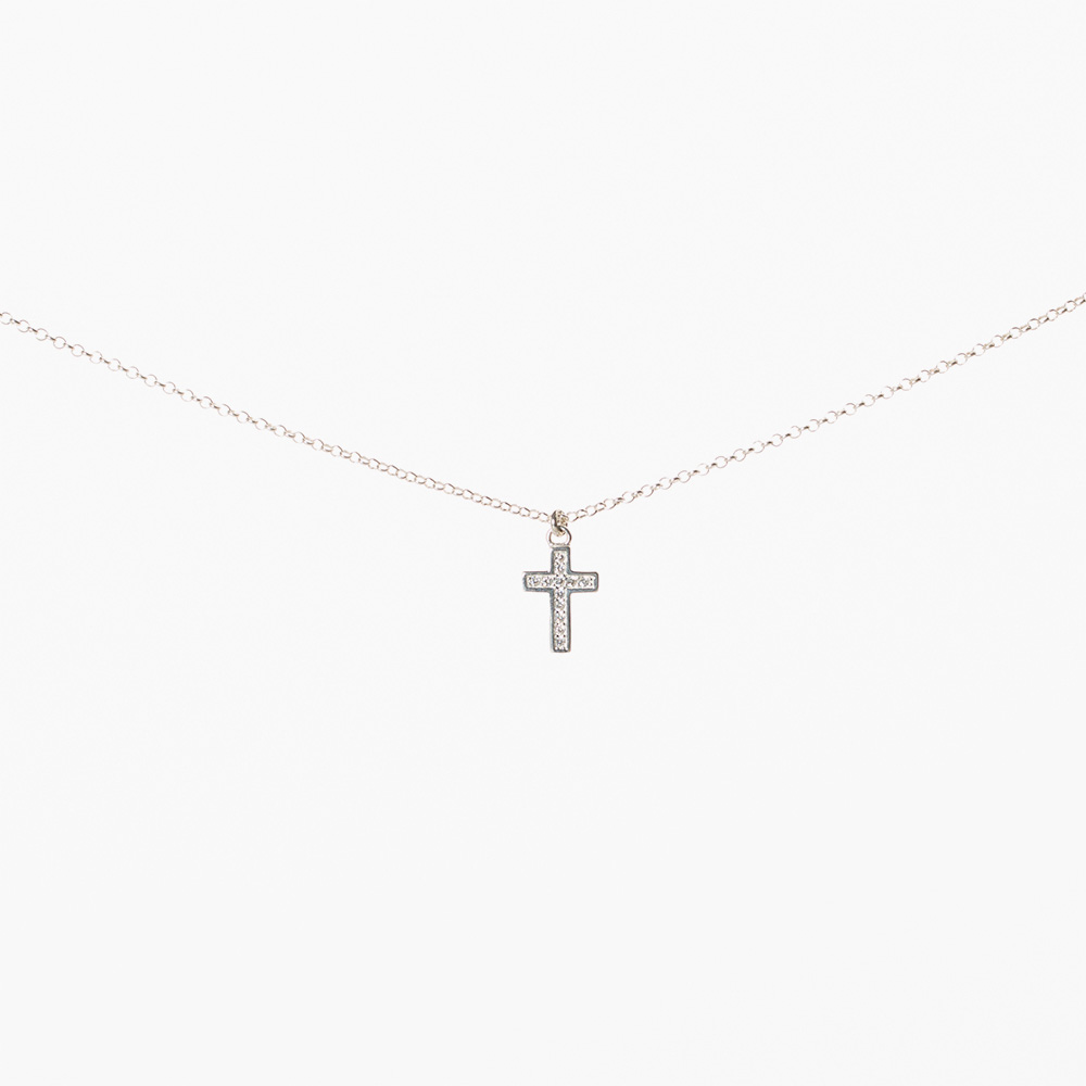 Lant din argint 925‰ charm Cruce
