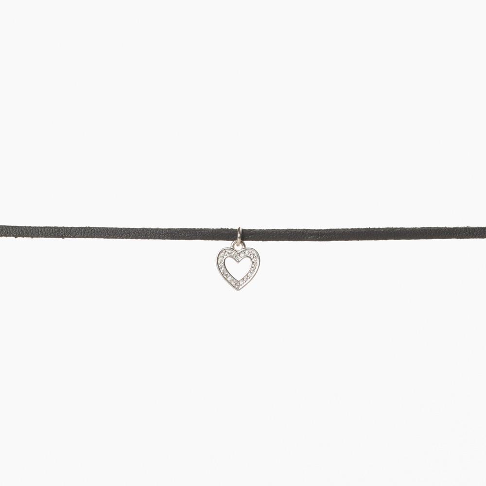 Lant choker argint 925‰ charm Inima