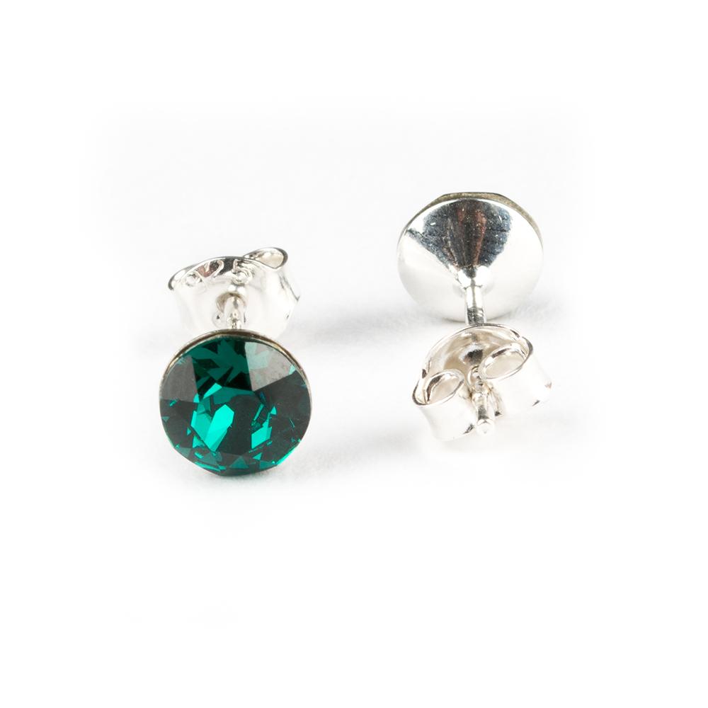 Cercei surub argint xirius Emerald verde